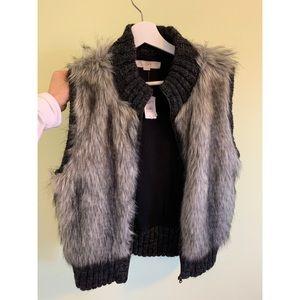 NWT Faux Fur LOFT vest M/L